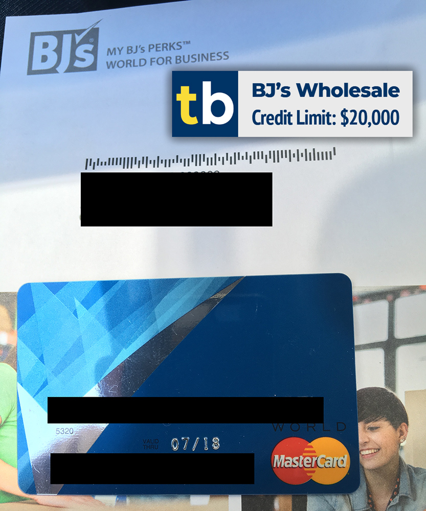 bj's wholesale business credit approved $20000